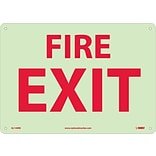 Notice Signs; Fire, Fire Exit, 10X14, Rigid Plasticglow