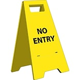 Floor Signs; Heavy Duty, No Entry, English Only, 10 3/4X24 5/8