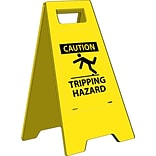 Heavy Duty Floor Signs;  Caution Tripping Hazard, 24.63X10.75