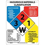 Information Signs; Hazardous Materials Classification Sign, 11X8, Rigid Plastic