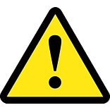 Hazard Labels; Graphic For No General Warning Hazard, 4In Dia, Adhesive Vinyl