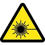 Hazard Labels; Graphic For Laser Hazard, 4In Dia, Adhesive Vinyl
