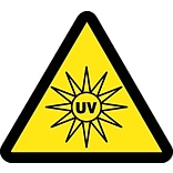Hazard Labels; Graphic For Uv Hazard, 4In Dia, Adhesive Vinyl