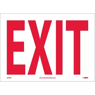 Information Labels; Exit 10X14, Adhesive Vinyl