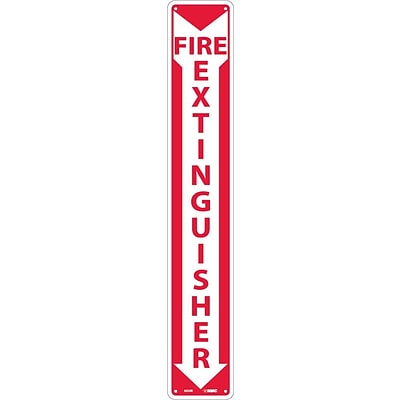 Notice Signs; Fire Extinguisher, 24X4, Rigid Plastic
