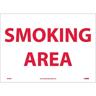 Information Labels; Smoking Area, 10X14, Adhesive Vinyl