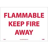 Information Labels; Flammable Keep Fire Away, 10X14, Adhesive Vinyl