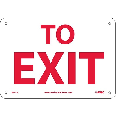 Notice Signs; To Exit, 7X10, .040 Aluminum