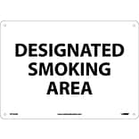 Notice Signs; Designated Smoking Area, 10X14, .040 Aluminum