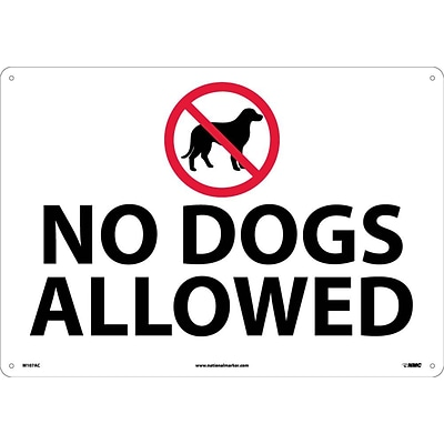 Notice Signs;  No Dogs Allowed, Graphic, 14X20, .040 Aluminum