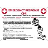 Notice Signs; Cpr Emergency Response, 10X14, Rigid Plastic