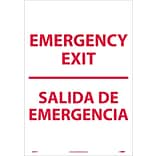 Information Labels; Emergency Exit Bilingual, 20X14, Adhesive Vinyl