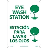Notice Signs; Eye Wash Station (Graphic), Bilingual, 14X10, Rigid Plastic