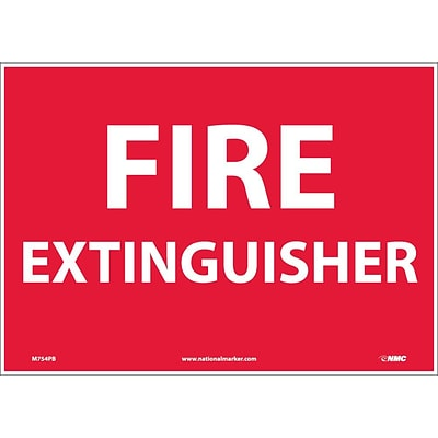 Information Labels; Fire Extinguisher, 10X14, Adhesive Vinyl