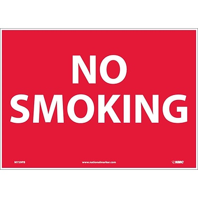 Information Labels; No Smoking, 10X14, Adhesive Vinyl