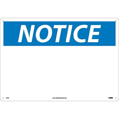 (Blank), 14X20, Rigid Plastic, Notice Sign