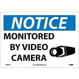 Notice Labels; Monitored By Video Camera, 10X14, Adhesive Vinyl