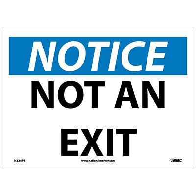 Notice Labels; Not An Exit, 10X14, Adhesive Vinyl