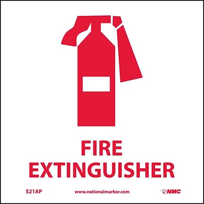 Information Labels; Fire Extinguisher (Graphic), 4X4, Adhesive Vinyl, Labels sold in 5/Pk