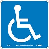 Information Signs; Handicapped (W/ Graphic), 7X7, Rigid Plastic