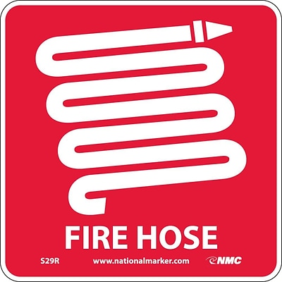 Notice Signs; Fire Hose (W/ Graphic), 7X7, Rigid Plastic