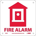 Notice Signs; Fire Alarm (W/ Graphic), 7X7, Rigid Plastic