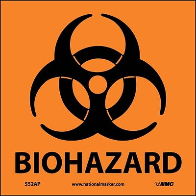 Biohazard (Graphic); 4X4, Adhesive Vinyl, Labels sold in 5/Pk