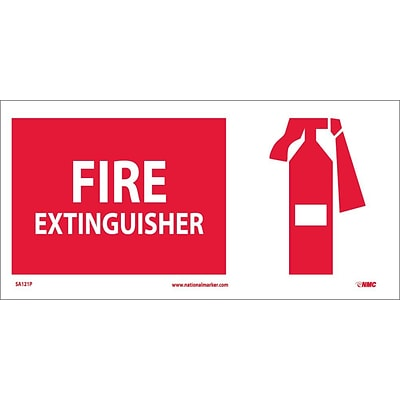 Information Labels; Fire Extinguisher (W/ Graphic), 7X17, Adhesive Vinyl