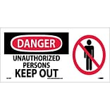 Danger Labels; Unauthorized Persons Keep Out (W/ Graphic), 7X17, Adhesive Vinyl