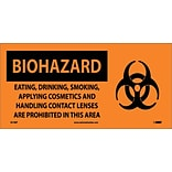 Biohazard; Eating Drinking Smoking Applying Cosmetics.. (W/ Graphic), 7X17, Adhesive Vinyl