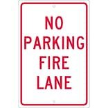 Parking Signs; No Parking Fire Lane, 18X12, .063 Aluminum