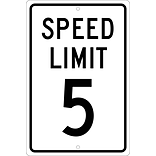 Speed Limit Signs; Speed Limit 5, 18X12, .063 Aluminum