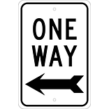 Directional Signs; One Way (With Left Arrow), 18X12, .080 Egp Ref Aluminum