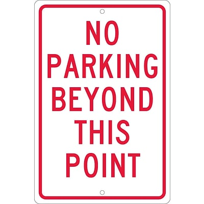 Parking Signs; No Parking Beyond This Point, 18X12, .063 Aluminum