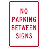 Parking Signs; No Parking Between Signs, 18X12, .040 Aluminum