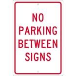 Parking Signs; No Parking Between Signs, 18X12, .063 Aluminum