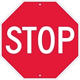 Stop Signs; Stop, 18 X 18,  Rigid Plastic