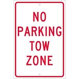 Parking Signs; No Parking Tow Zone, 18X12, .063 Aluminum