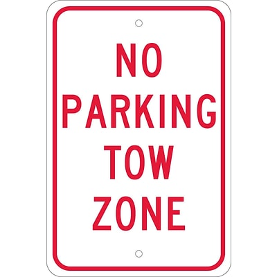 Parking Signs; No Parking Tow Zone, 18X12, .080 Egp Ref Aluminum