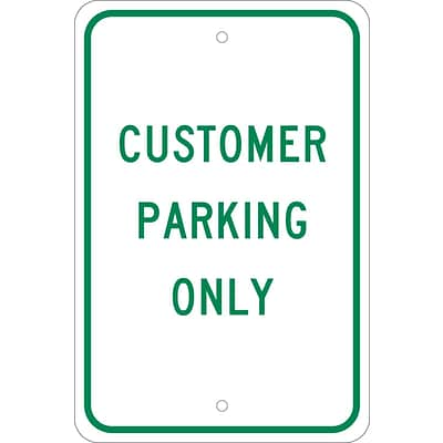 Parking Signs; Customer Parking Only, 18X12, .080 Egp Ref Aluminum
