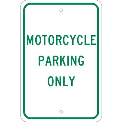 Parking Signs; Motorcycle Parking Only, 18X12, .080 Egp Ref Aluminum