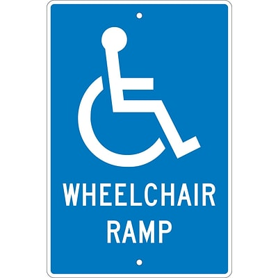 Notice Signs; Wheelchair Ramp, 18X12, .063 Aluminum