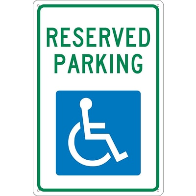 Parking Signs; Reserved Parking, 18X12, .040 Aluminum