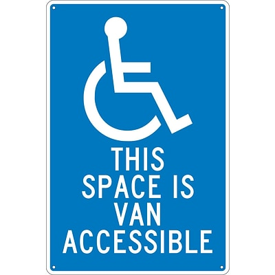 Parking Signs; This Space Is Van Accessible, 18X12, .040 Aluminum