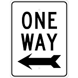 Directional Signs; One Way (W/Left Arrow), 24X18, .080 Egp Ref Aluminum