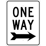 Directional Signs; One Way (W/Right Arrow), 24X18, .080 Egp Ref Aluminum