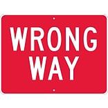 Directional Signs; Wrong Way, 18X24, .080 Egp Ref Aluminum