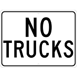 Traffic Warning Signs; No Trucks, 18X24, .080 Hip Ref Aluminum