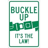 Traffic Warning Signs; Buckle Up Its The Law, 18X12, .040 Aluminum
