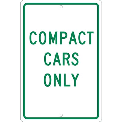 Parking Signs; Compact Cars Only, 18X12, .063 Aluminum